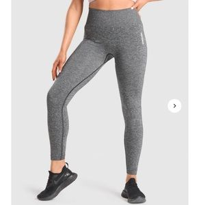 Gymshark Adapt Marl Seamless Leggings grey black